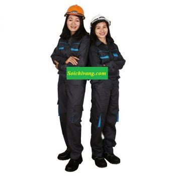 Đồng Phục Bảo Hộ Lao Động Màu Xám Dành Cho Công Nhân Xí Nghiệp.