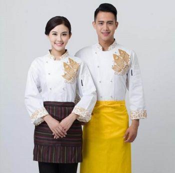 Đồng Phục Đầu Bếp Họa Tiết Trung Hoa