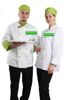 Mẫu áo đồng phục bếp tay dài chất lượng