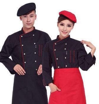 May áo đồng phục bếp vải kaki cao cấp đẹp