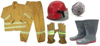 Quần Áo Phòng Cháy Chữa Cháy Nguyên Set Có Khẩu Trang Phòng Độc.